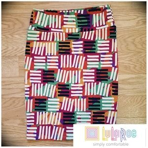 NWOT Linear 'Cassie' Lularoe Stretch Pencil Skirt